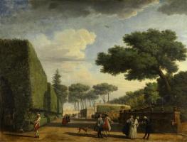 Клод Жозеф Верне. Парк виллы Памфили в Риме