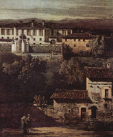 Giovanni Antonio Canal (Canaletto). The village Gazzada view Villa Melzi d Eryl from the South-East, a fragment of