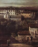 Джованни Антонио Каналь (Каналетто). Деревня Гаццада, вид на виллу Мелци д`Эрил с юго-востока, фрагмент