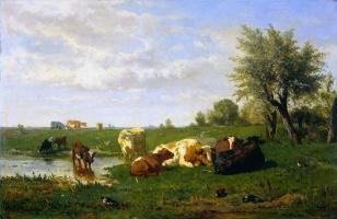 Альберт Билдерс. Коровы на лугу