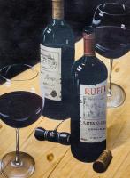 Савелий Камский. Натюрморт с красным вином N2