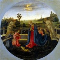 Филиппино Липпи. Поклонение младенцу Христу