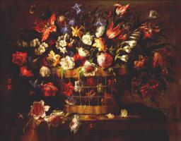 Хуан де Арельяно. Корзина цветов