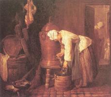 Жан Батист Симеон Шарден. Женщина, наливающая воду из бака