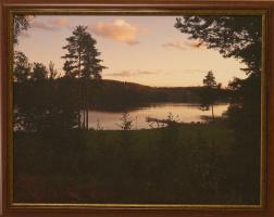 K. Grechuk. Evening lake