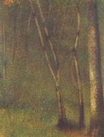 Жорж Сёра. Лес в Понтобере
