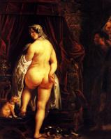 Якоб Йорданс. Кандавл показывает свою жену Гигесу