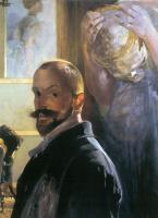 Jacek Malchevsky. Self-portrait with skull