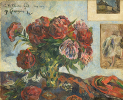 Paul Gauguin. Still life with peonies