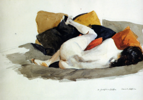 Edward Hopper. Reclining Nude