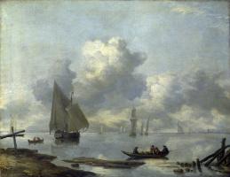Ян ван де Каппель. Река вблизи города