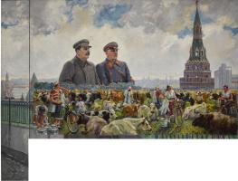 Alexander Mikhailovich Gerasimov. Herd On The Collective Farm / Stalin And Voroshilov At The Kremlin