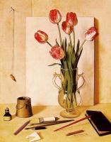 Антонио Буэно. Натюрморт с тюльпанами