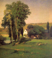 George Inness. House