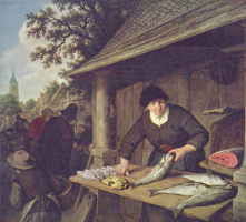 Адриан Янс ван Остаде. Торговка рыбой