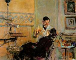 Жан Эдуар Вюйар. Доктор Жорж Вио в своем кабинете с пациенткой Аннет Руссель