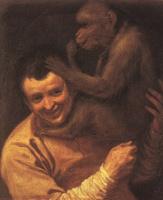 Аннибале Карраччи. Молодой человек с обезьянкой