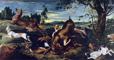 Франс Снейдерс. Охота на оленя