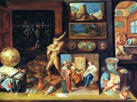 Франс Франкен Младший. Кабинет коллекционера. 1625