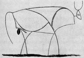 Пабло Пикассо. Бык. Стадия 10
