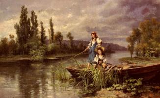 Джузеппе Кастильоне. На реке в сумерках