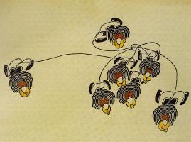 """Константин Андреевич Сомов. Декоративный мотив. Журнал """"Мир искусства"""""""