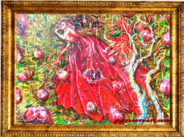 "Anastasia Guryanova. ""Pomegranate nymph - variety in unity """