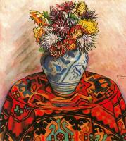 Энрик Рикарт. Ваза с цветами на столе