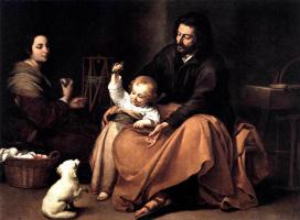Бартоломе Эстебан Мурильо. Святое семейство с птичкой