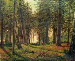 Лев Феликсович Лагорио. В еловом лесу