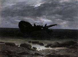 Каспар Давид Фридрих. Крушение в лунном свете