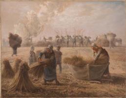 Jean-François Millet. Buckwheat crop