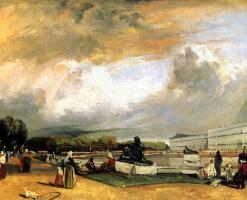 Richard Parkes Bonington. The parterre in Versailles