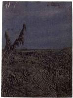 Херкюлес Питерс Сегерс. Пейзаж с дорогой по краю плато и рекой на горизонте