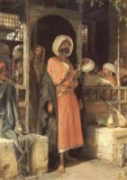 Джон Фредерик Льюис. Дверь из кафе в Каире
