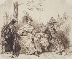 Jean Inias Isidore (Gerard) Granville. In the park