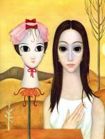 Маргарет Кин. Девушка в белом платье
