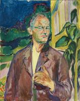 Эдвард Мунк. Автопортрет на фоне стены дома