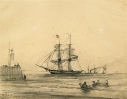Ivan Aivazovsky. Bathing in Le Havre