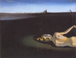 Salvador Dali. Woman sleeping in a landscape