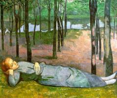 Эмиль Бернар. Отдых в лесу
