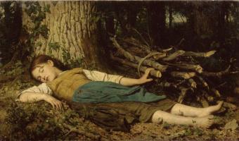 Альберт Анкер. В лесу