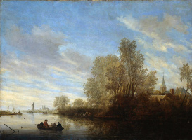 Саломон Якобс ван Рейсдал. Вид на реку