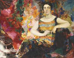 Филипп Андреевич Малявин. Женский портрет