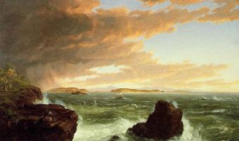 Томас Коул. Вид на залив с горы