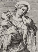 Агостино Карраччи. Мадонна с младенцем