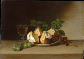 Raphaelle Peale. Still life with cupcake
