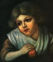 Василий Андреевич Тропинин. Девочка с яблоком