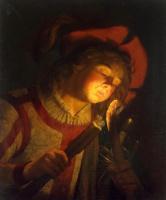 Маттиас Стомер. Мальчик с факелом