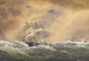 "Александр Карлович Беггров. «Фрегат ""Светлана"" в штормовую погоду». 1878."